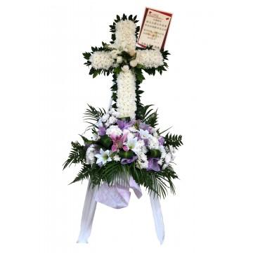 Comfort Cross Wreath | Condolence Wreath