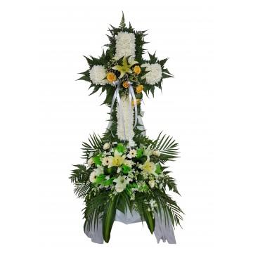 Condolences Cross Wreath | Condolence Wreath