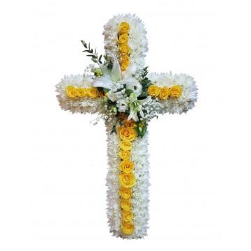 Grace Cross Wreath w/o Stand   Condolence Wreath