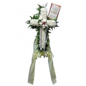 Serenity Cross Wreath   Condolence Wreath