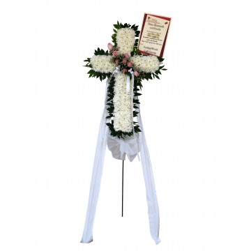 Peace Cross Wreath   Condolence Wreath