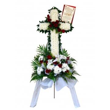 Tranquillity Cross Wreath   Condolence Wreath