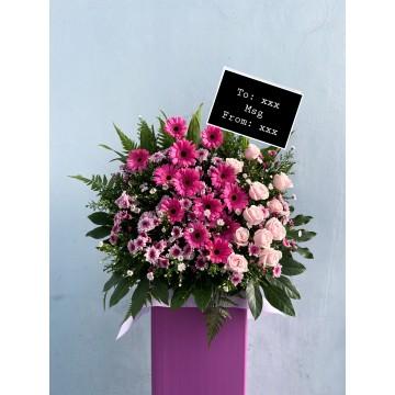 Grand Pink | Congratulatory Floral Stand
