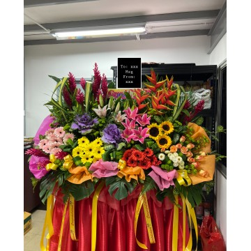 Extravagant | Congratulatory Floral Stand