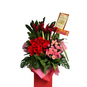 Glamorous | Congratulatory Floral Stand