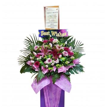 Magenta | Congratulatory Floral Stand