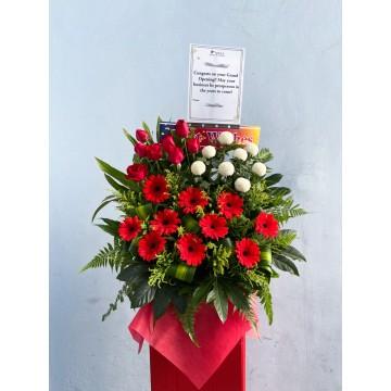 Grand Red | Congratulatory Floral Stand