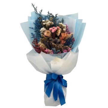 Everlasting Saphirs | Dried Flowers Bouquet