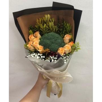 Spring Glow | Vegetable x Floral Bouquet